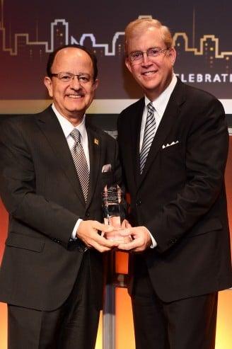 USC president Max Nikias and LAEDC president Bill Allen