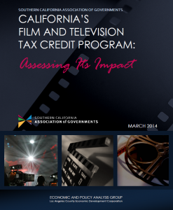 SCAG report on California's Film and Television Tax Credit Program