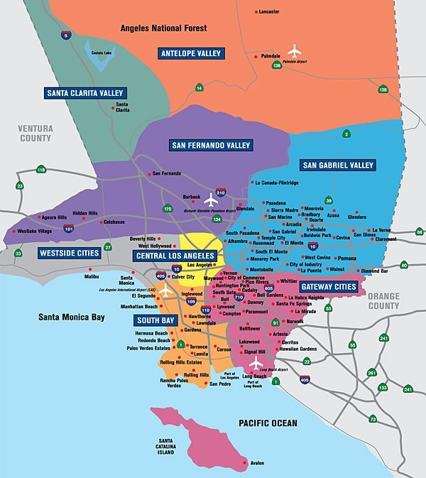 Explore The Regions And Cities Of Los Angeles County