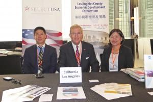 Henry Bill and Deborah at LA County booth at Select USA Hong Kong
