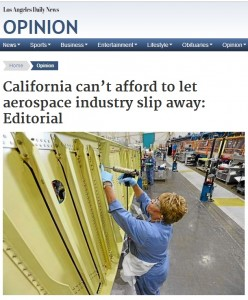 CA Cant Afford to let aerospace slip away LANG 8.14.14