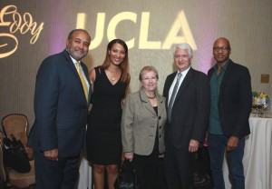 UCLA's Asst Vice Chancellor Keith Parker, Chancellor Gene Block and colleagues