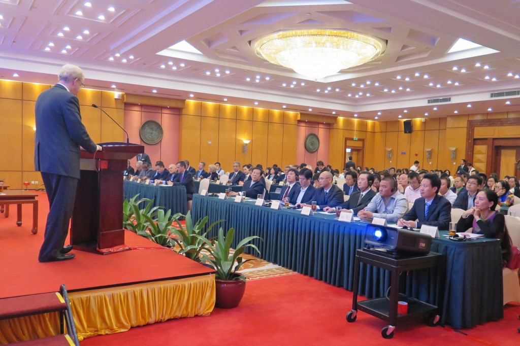 LAEDC's Bill Allen addresses the Shenzhen-Los Angeles Bilateral Economic Exchange and CEO Forum, jointly organized by CCPIT Shenzhen and the LAEDC's China representative office in Shenzhen.  Nov 18, 2014