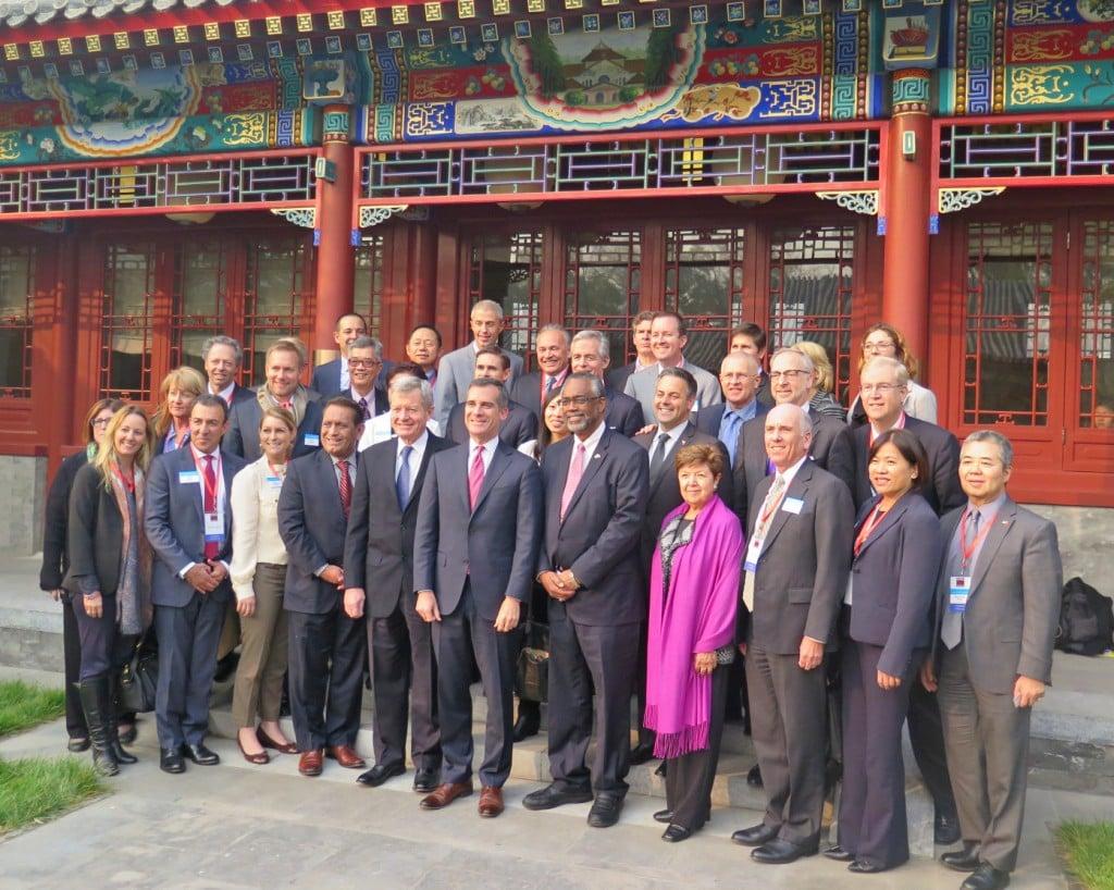 LAEDC and LABC business delegations join LA Mayor Eric Garcetti and US Ambassador to China Max Baucus for an environmental summit at Peking University.  Nov 20, 2014