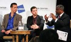 Jim Cooper (PortTech LA), Michael Shabun (DJI) and Rodney Slater (Squire Patton Boggs)
