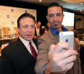 Selfies with the emcee Frank Mottek of KNX!