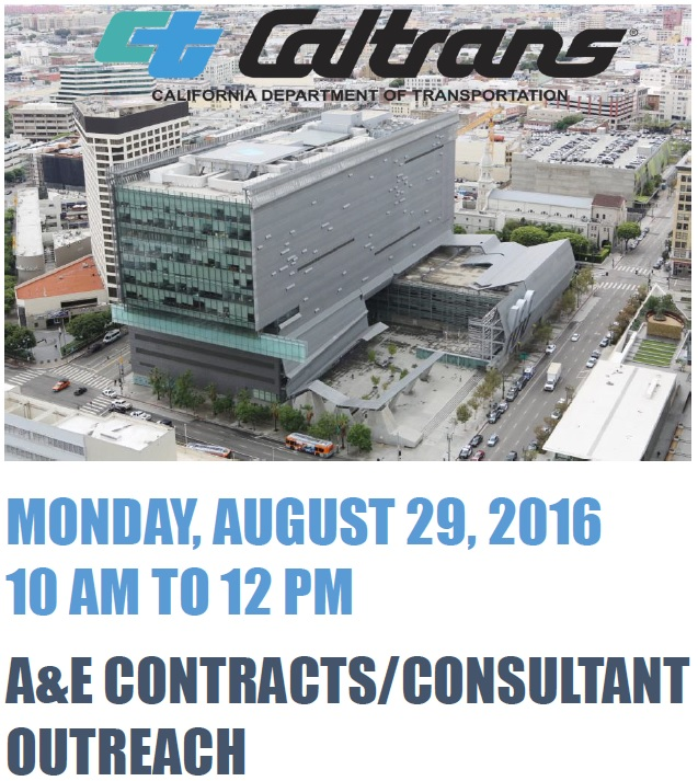 Caltrans Hosts Architecture & Engineering Contract Outreach Event
