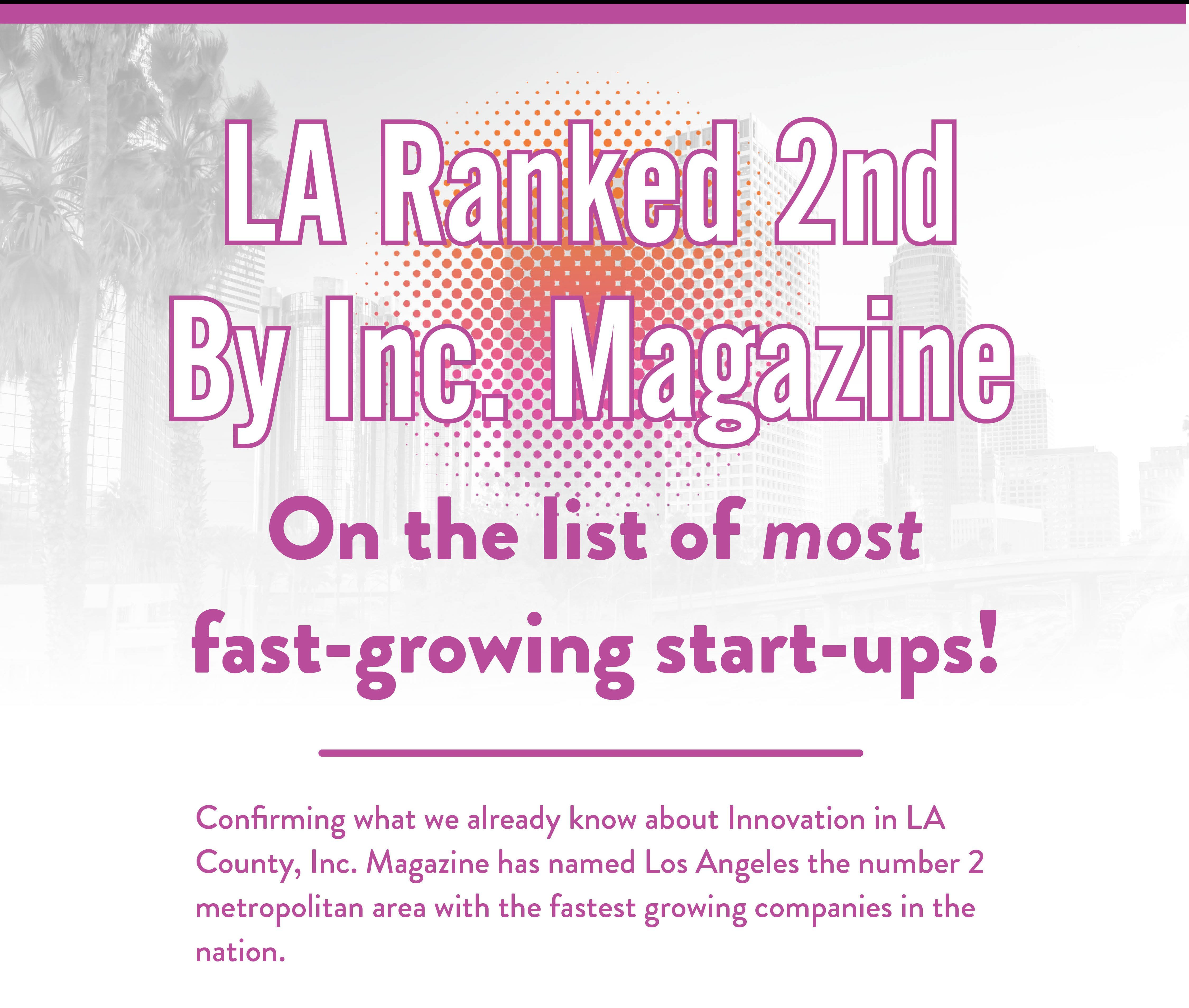 Inc. Mag Ranks L.A. Near Top for Fastest Growing Companies