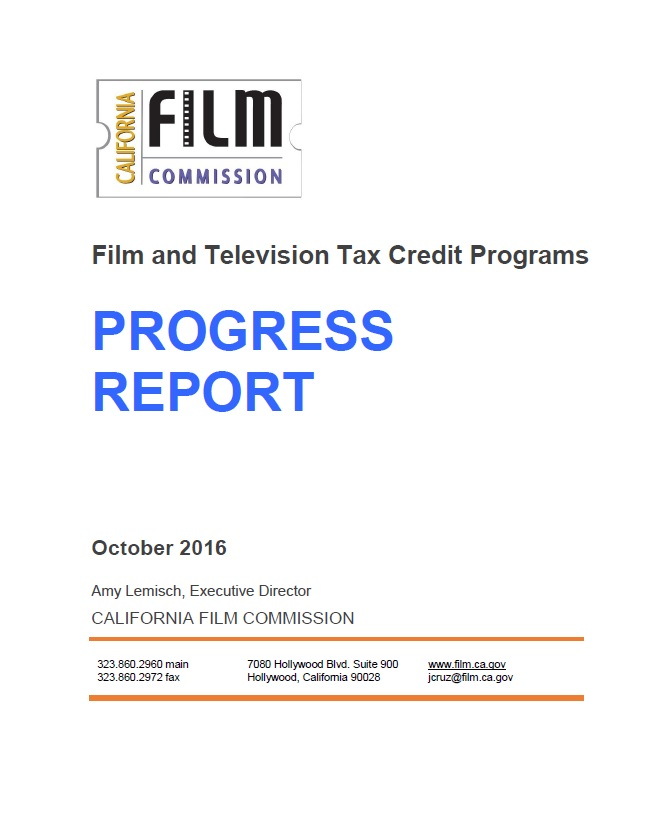 CA Film & TV Tax Credit: FY16 Results Reveal Positive Jobs Impact