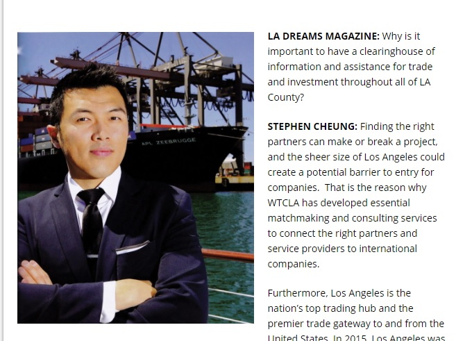 Q&A with Stephen Cheung, President of World Trade Center LA