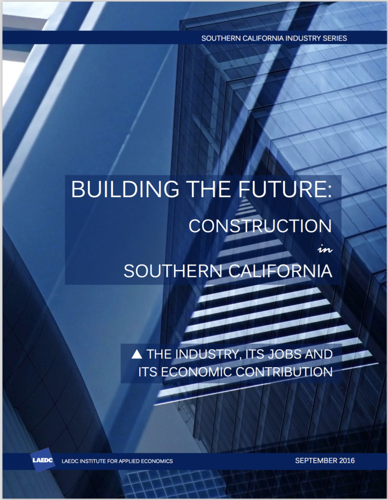 LAEDC Report: SoCal Construction Industry; Forecast And Market Update