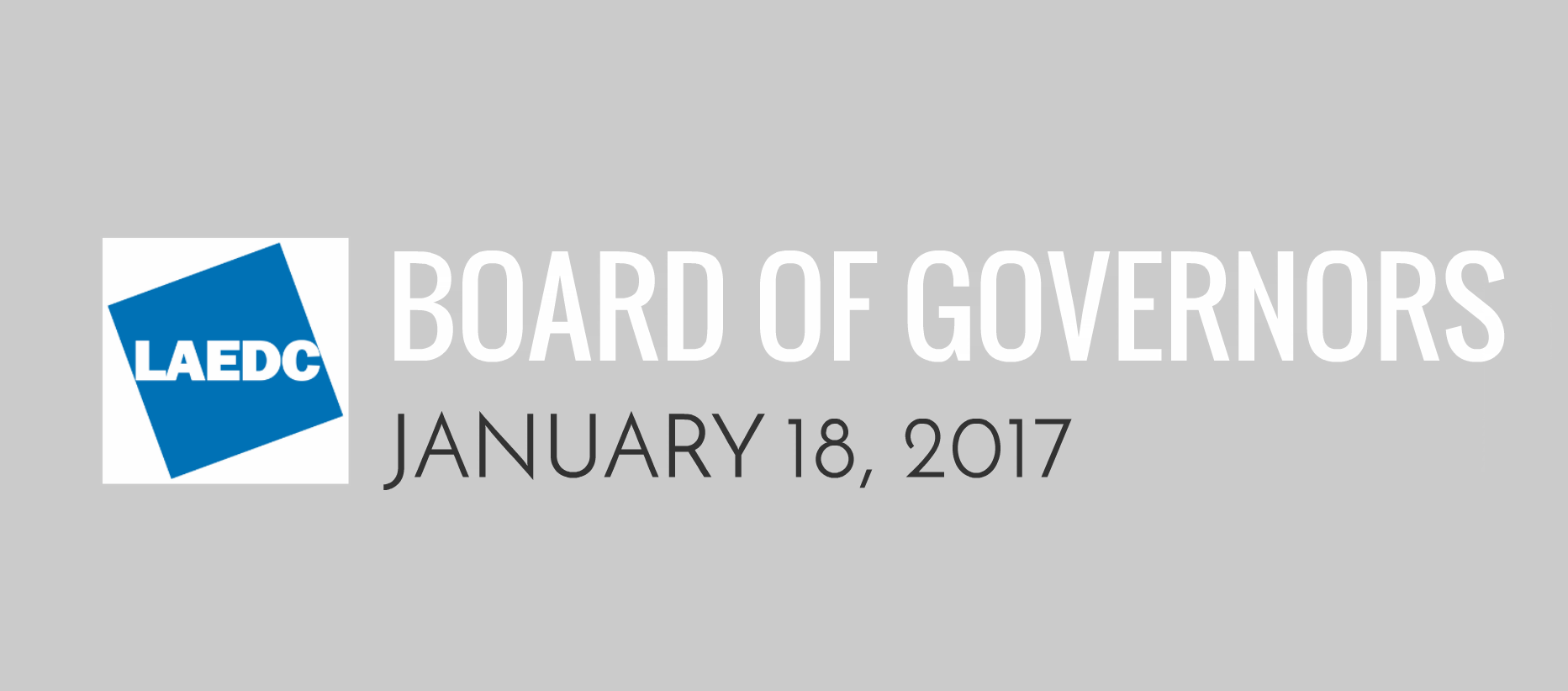 Recap: Board of Governors 1/18/17
