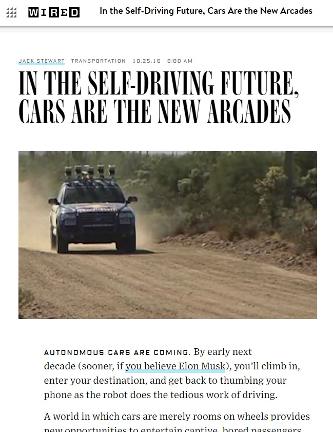 WIRED Magazine Envisions the Future of Driverless Cars