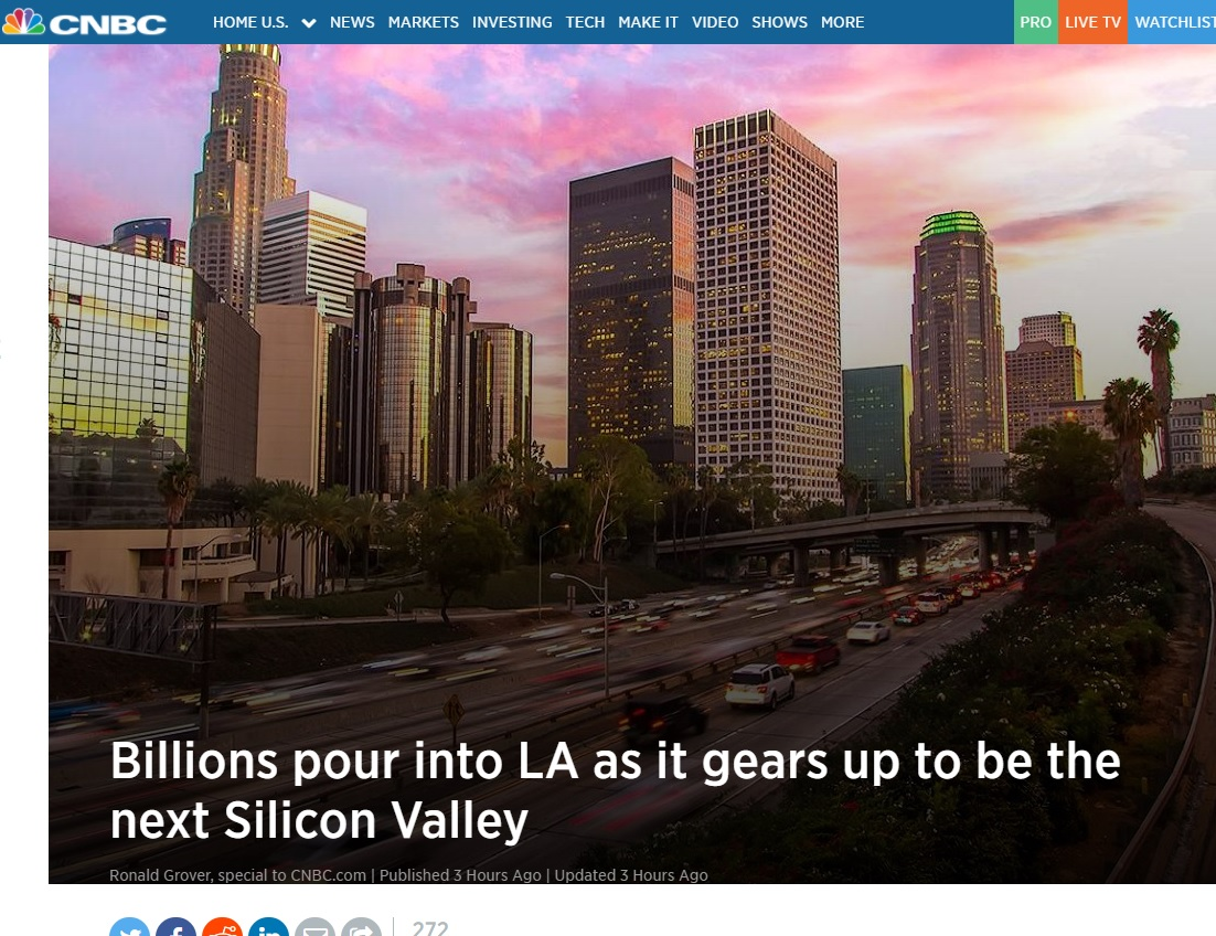 CNBC: Billions in Investment Pour into Los Angeles, Fueling Startups and Industries