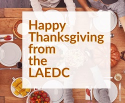 LAEDC Staff Donates to LA Mission this Thanksgiving