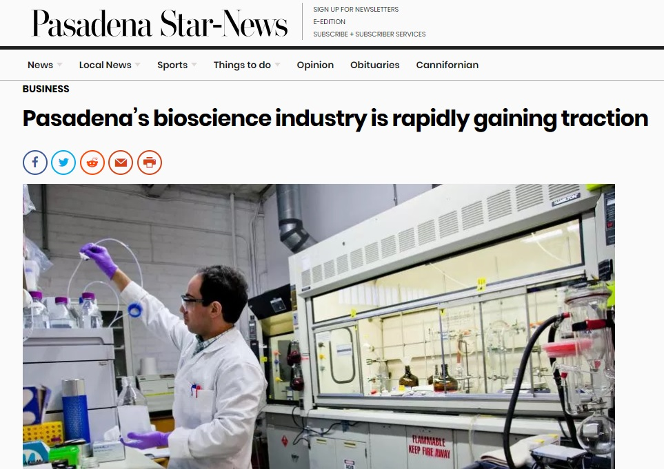Biosciences Growth in Pasadena Shows Potential for All of LA County