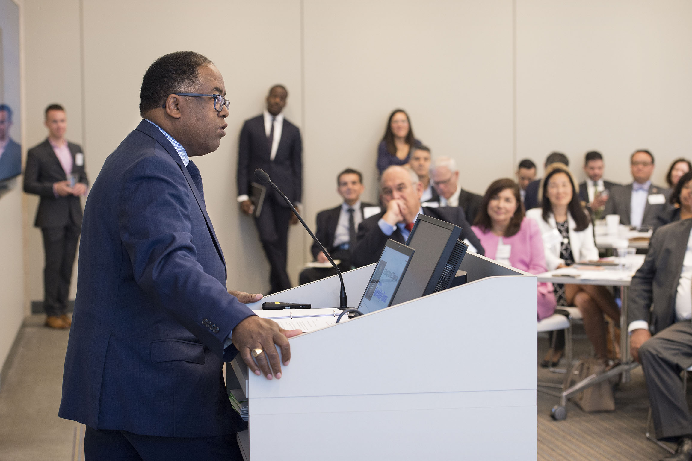 Supervisor Mark Ridley-Thomas and aerospace firm L3 joined LAEDC board meeting
