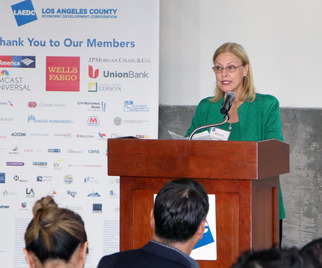 LAEDC Chair Dr. Dianne Harrison, president of CSUN