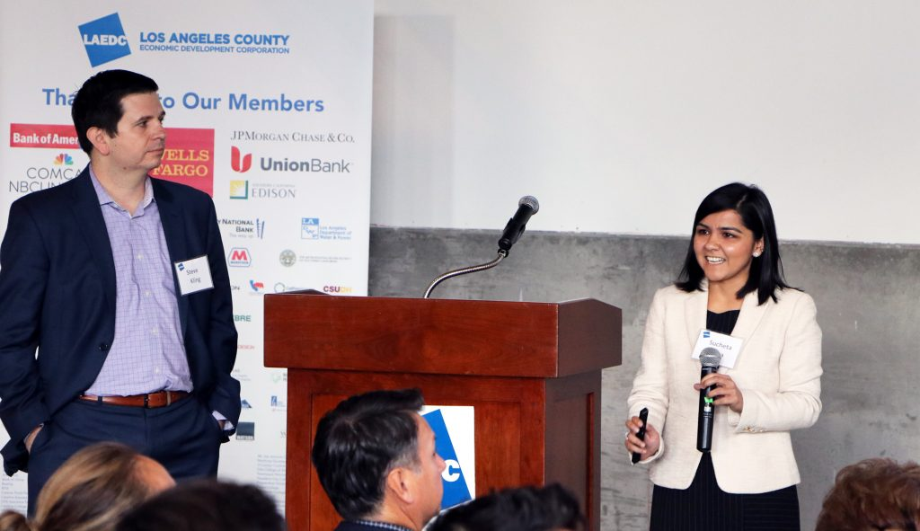 Sucheta Arora and Steve Kling from McKinsey & Company preview the new Affordable Housing report for LAEDC members. The report was released the following day