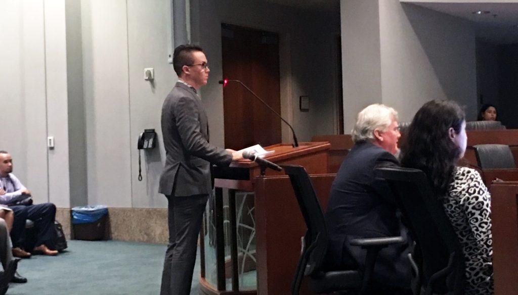 LAEDC economist Tyler Laferriere presents findings at Metrolink board meeting Dec 13, 2019