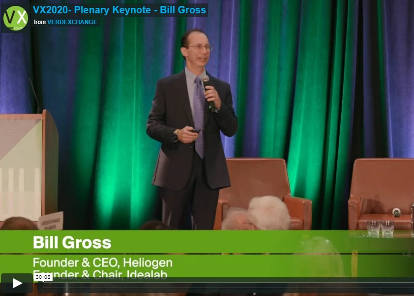 Video: LA is at the center of renewable energy innovation – Bill Gross at VERDEXCHANGE