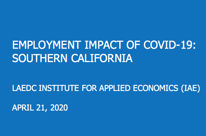 LAEDC:  Potential for 31.7% unemployment rate in LA County by May 2020