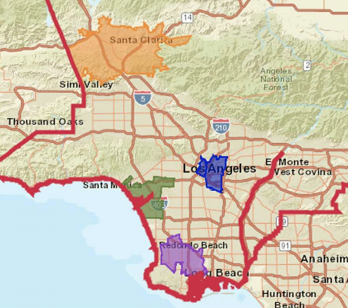 Bioscience hubs in LA County visualized in new datsheets