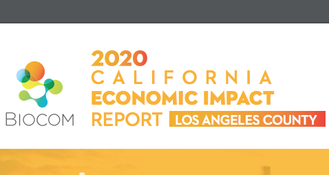 Biocom's 2020 Economic Impact Report highlights the growth of lifesciences industry in CA