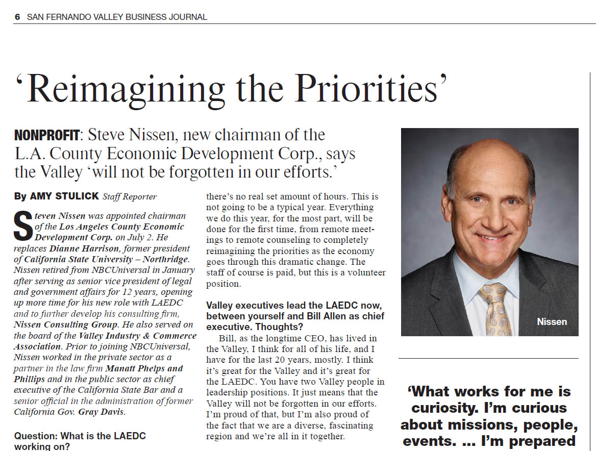 SFV Business Journal recognizes LAEDC past and present leadership