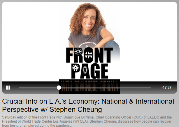 KJLH interviews LAEDC's Stephen Cheung about jobs in LA County