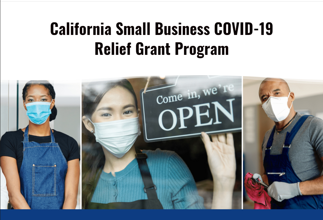 How to apply for CA Relief Grant: webinars for Small Business – Register!