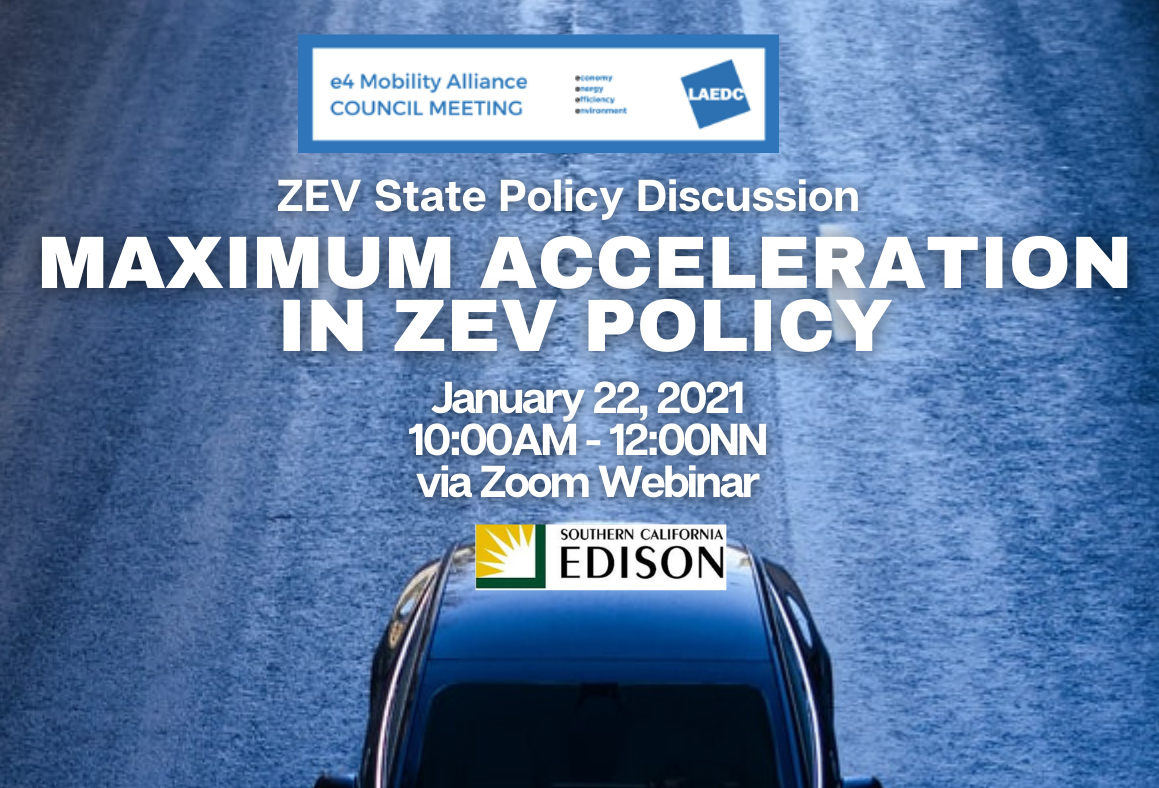 Maximum acceleration in ZEV policy: e4 meeting highlighted collaboration