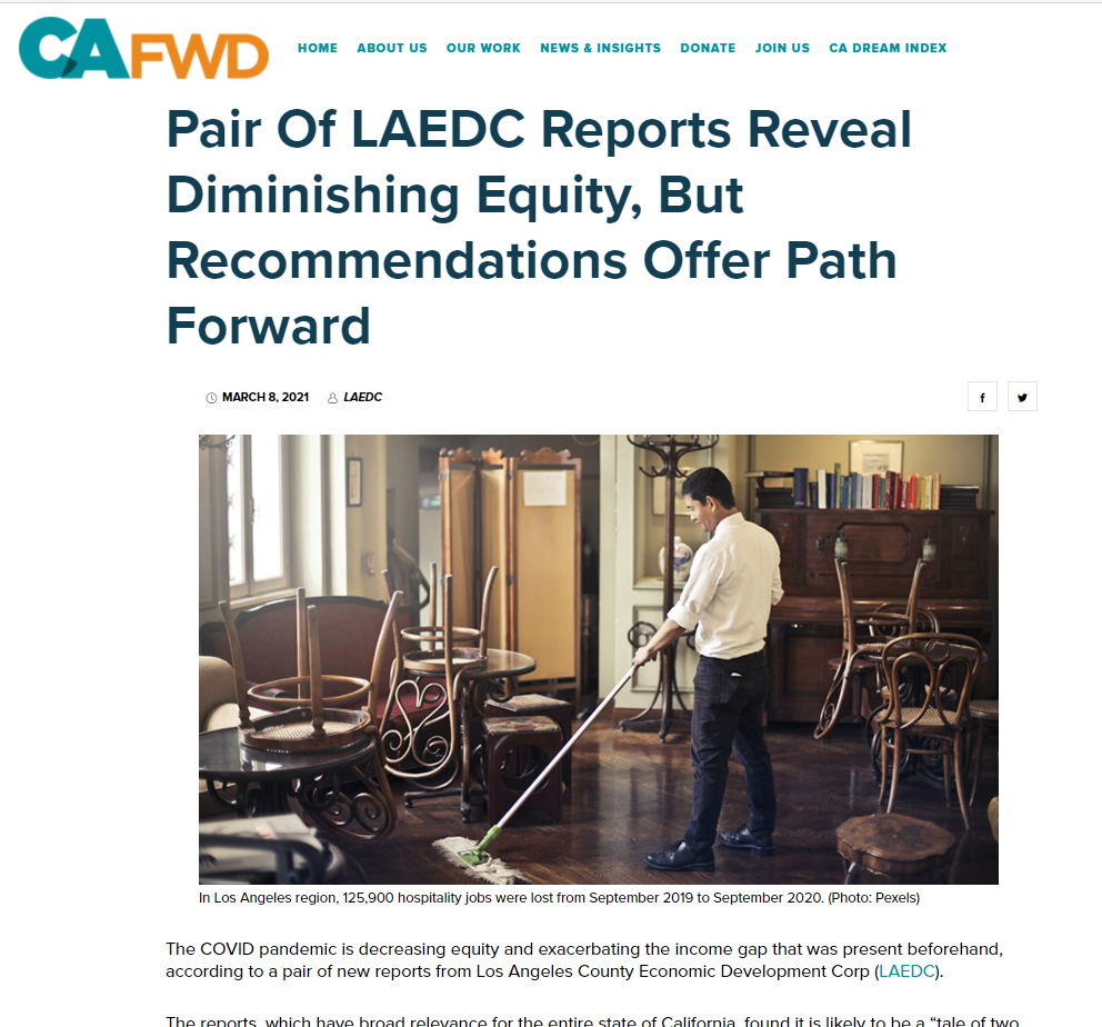 CAFWD: Pair Of LAEDC Reports Reveal Diminishing Equity, But Recommendations Offer Path Forward