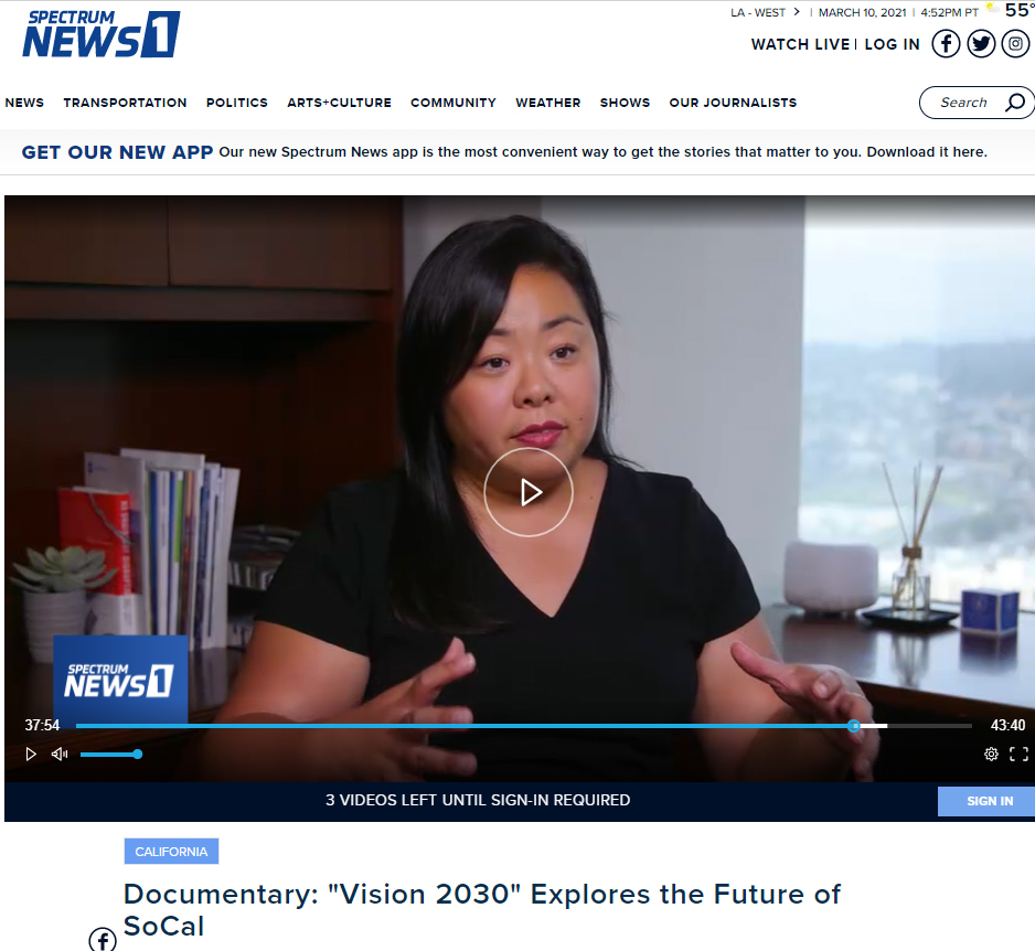 """Spectrum Documentary: """"Vision 2030"""" Explores the Future of SoCal (LAEDC's Jessica Ku Kim interviewed about future of workforce)"""