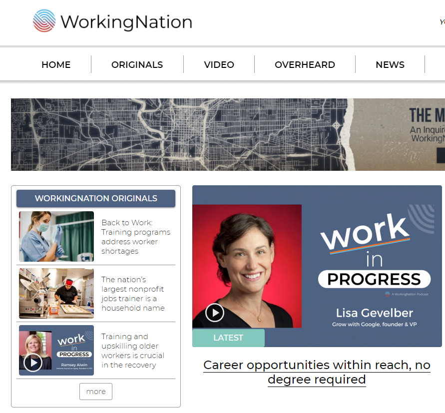 Careers requiring no degrees featured by Working Nation, part of focus on future of work