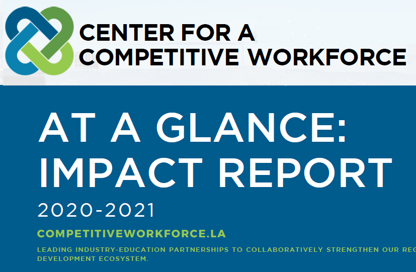 Visual shows results of CCW college-industry engagement, from LAEDC's work
